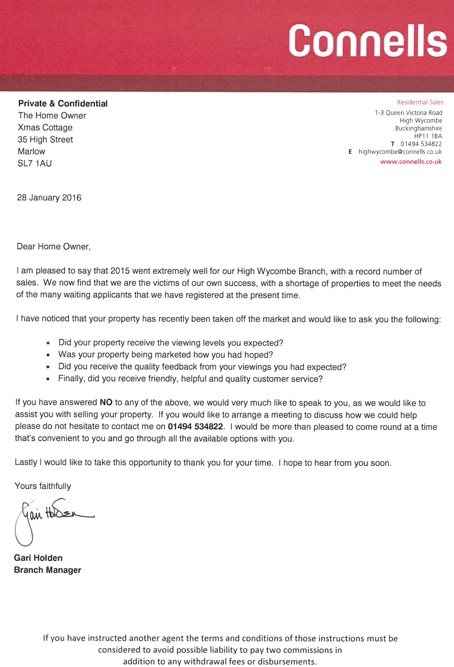 Touting letter sent by corporate to 'seller' of spoof property ...
