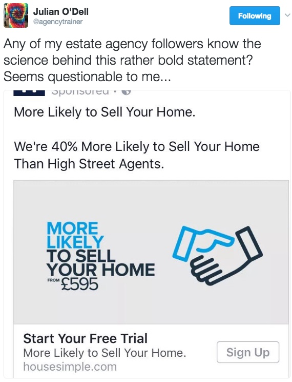 Online firm claims it is '40% more likely' to sell a home than ...